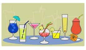 20个鸡尾酒 向量例证