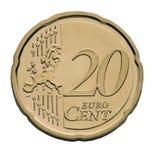20分硬币欧元 库存照片