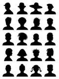 20张匿名面部照片 图库摄影