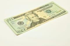 20 ενιαία Δολ ΗΠΑ λογαρια& Στοκ εικόνα με δικαίωμα ελεύθερης χρήσης