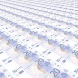 20 ευρώ ανασκόπησης Στοκ εικόνες με δικαίωμα ελεύθερης χρήσης