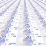 20 ευρώ ανασκόπησης Στοκ Εικόνα