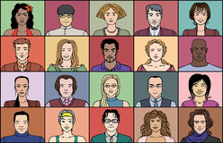 20 взрослых людей бесплатная иллюстрация