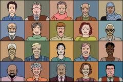 20 взрослых людей иллюстрация вектора