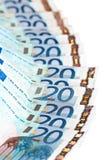 20 примечаний евро Стоковое фото RF