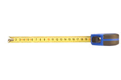 20 сантиметров изолировали ленту измерения Стоковые Фото