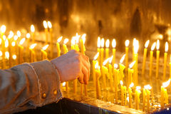 20 свечек стоковые изображения