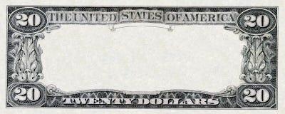 20 долларов рамки Стоковая Фотография