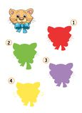 тень игры 20 котов Стоковая Фотография RF