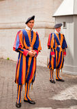 20 2010 szwajcarów strażników Italy szwajcarów Obrazy Royalty Free
