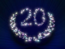 20 αστέρια επετείου Στοκ Εικόνα