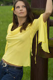 20-25 jaar oud mooi sexy vrouwenportret bij o Stock Foto's