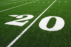 The 20 Yard Line Royalty Free Stock Image