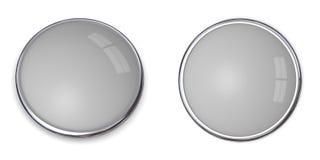 20 3d guzika grey bryła ilustracja wektor