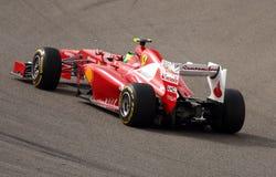 20 4月2012日f1 ferrari massa赛跑 免版税库存图片