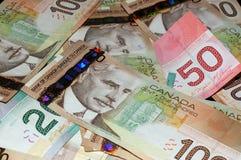加拿大20 50 100个的票据 免版税库存图片