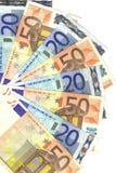20 50 euros Arkivfoton