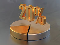 20% illustration stock