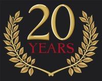 20 años ilustración del vector