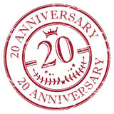 20 anniversary. Stamp 20 anniversary, color illustration royalty free illustration