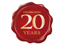 20 anniversary Wax seal Royalty Free Stock Photography