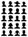 20 Anonymous Mugshots. Abstract vector illustration Stock Photography