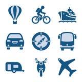 20 błękit ikony set Zdjęcia Stock