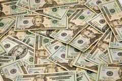 $20 billets d'un dollar Image libre de droits