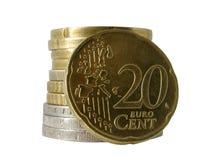 20 cent euro Royaltyfri Bild