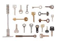 20 clés diverses Image libre de droits