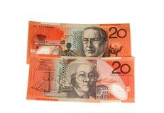 $20 contas Fotografia de Stock Royalty Free