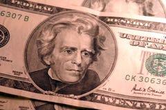 20 cuentas de dólar Imagen de archivo libre de regalías