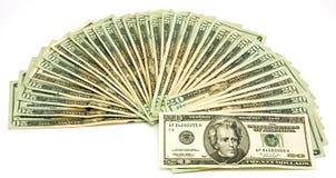 20 cuentas de dólar americano Fotografía de archivo