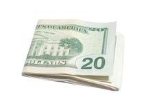 20 dólares americanos Fotos de Stock