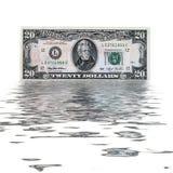 20 dólares de los E.E.U.U. Foto de archivo libre de regalías