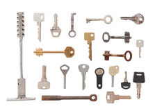 20 diverse sleutels Royalty-vrije Stock Afbeelding