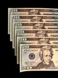 20 dolarów nas rachunki Obrazy Stock