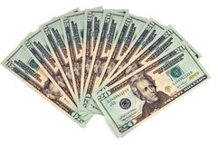 20 dolar rachunki Obraz Stock