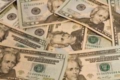 20 Dollar bills stock image