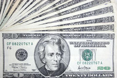20 Dollar, Jackson Lizenzfreie Stockbilder