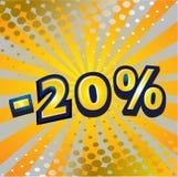 20 dyskontowych procentów Zdjęcie Royalty Free