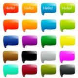20 eenvoudige dialoogtoespraak Royalty-vrije Stock Fotografie