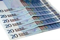 20 euro Stock Afbeelding