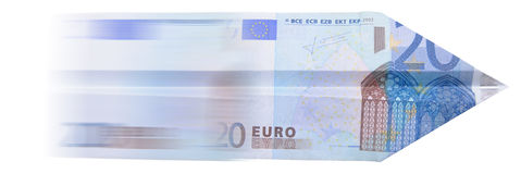 20 euro airplane Stock Photo