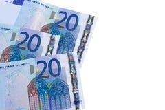 20 euro bankbiljetten Royalty-vrije Stock Afbeelding