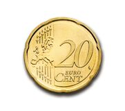20 Euro Cent Stock Photography