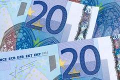 20 euro- notas de banco Imagens de Stock Royalty Free