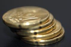 20 euro pièces de monnaie de cent macro Images libres de droits