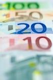 20 euroeuros line up Arkivbild