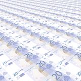 20 euros Background Royalty Free Stock Images